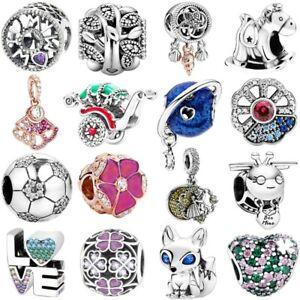 new Fashion 925 European Silver Charms Bead Pendant For Bracelet Chain bangles