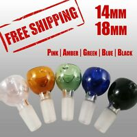 14mm Bowl & 18mm Bowl - Male   Pink Amber Green Blue Black Colors Available
