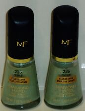 2 Max Factor Diamond Hard Nail Polish Nail Enamel Perle STARLET SATIN #235