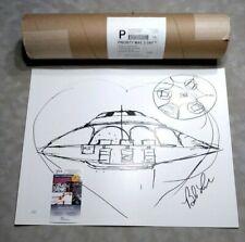 "Bob Lazar Signed Area 51 ""Sport Model"" UFO Print -  JSA COA and Original Tube"