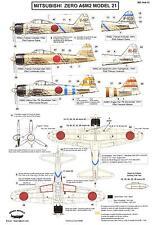 Berna Decals 1/144 MITSUBISHI A6M2 MODEL 21 ZERO Fighter Saburo Sakai