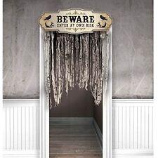 """Halloween """"Beware"""" Door Curtain Decoration #382796"""