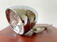 Vintage headlight lamp bike bicycle miller restoration chrome light guide night