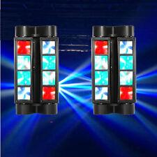 2Pcs 60W 8-LED RGBW Light Spider Moving Head Stage Lights DMX DJ & Disco US Plug
