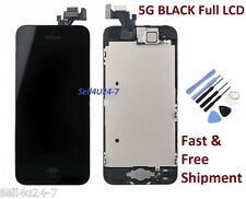 New Iphone 5 5G BLACK LCD Touch Digitizer Glass Screen Assembly with Home Button