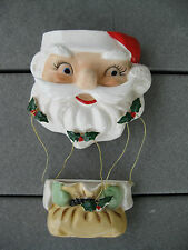 Vintage Christmas Santa Head Wall Pocket Japan RARE Lefton A0800