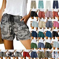 Womens Summer Drawstring Casual Elastic Waist Loose Shorts Hot Pants Trousers