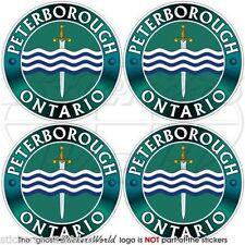 "PETERBOROUGH ONTARIO Canada Canadian Bumper-Helmet Decals, Stickers 2""(50mm) x4"