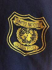 Untied Nations Civilian Police T-Shirt Size XL Blue NEW