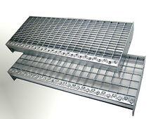Treppenstufen Metall Stufe 800x240x30/30 Gitterroststufen Stahl Verzinkt NEU