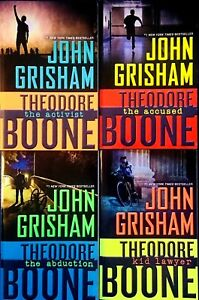 John Grisham and Theodore Boone Lot of 4 in the Young Mystery Series