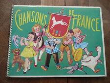 ALBUM D'IMAGES A COMPLETER CHOCOLAT POULAIN CHANSONS DE FRANCE INCOMPLET 1950 ?