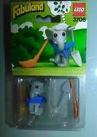 LEGO FABULAND réf 3706 .ELMER L'ELEPHANT BALAYEUR. ANCIEN JOUET NEUF 1982 SCELLE
