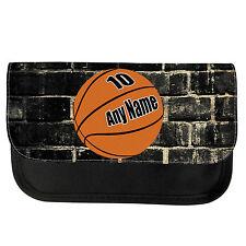 PERSONALISED BASKETBALL SCHOOL PENCIL CASE / MAKE UP BAG BIRTHDAY XMAS BIRTHDAY
