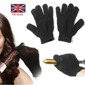 Pair Heat Resistant Gloves Curling Protective Heat Proof for Hair Straightener