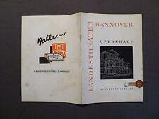 Prospekt Landestheater Hannover, Opernhaus, Spielzeit 1954/55, Reklame