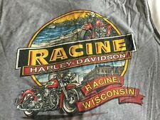 Harley Davidson Tank Top Sleeveless Shirt Men size XL Racine WI Gray