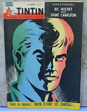 Journal Tintin n°652, 20 avril 1961, une de Tibet, Ric Hochet Signé Caméléon