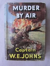 Old Book Murder By Air by W.E. Johns 1951 32d Printing London DJ GC