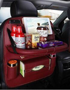 Car Seat Back Organizer Foldable Table Tray Travel Storage Bag Foldable Dining