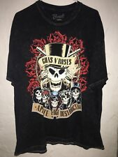 Guns N Roses Appetite For Destruction LA Colliseum Black Fade Tee X-Large Mens