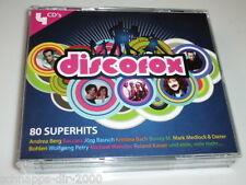 DISCOFOX 80 SUPERHITS 4 CD´S  BIG-BOX MIT MICHAEL WENDLER / MARK MEDLOCK / NIC