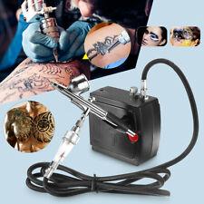 Airbrush & Compressor Kit Dual-Action Spray Air Brush Set Tattoo Nail Art