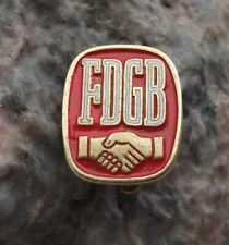 Antique FDGB Free German Trade Union Federation Members Hand Shake Pin Badge