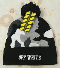 NWT OFF WHITE Cap Beanie Hat Mens Women Medium Size