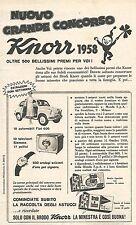 W8950 Con KNORR vincete la Fiat 600 - Pubblicità del 1958 - Vintage advertising