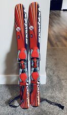 Salomon Snowblades Freestyle Mini Trick Skis 90 cm Leash Bindings Red