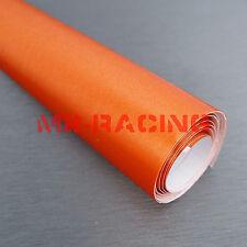 "24""x60"" Orange Brushed Aluminium Sticker Decal Car Laptop Vinyl Wrap Bubble Free"