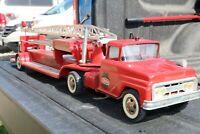 Tonka Hydraulic Fire Ladder Pumper Truck - Pressed Steel - USA - 1963