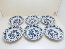 Blue Danube Japan China 6 Coupe Soup Bowls
