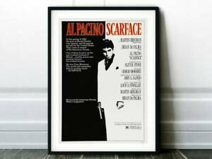 Scarface Movie Poster - Classic 80's Vintage Choose your Size & Paper