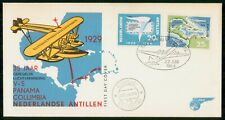 Mayfairstamps Netherlands Antilles 1964 Airplanes Panama Columbia first Day Cove