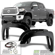 For 2014-2017 Toyota Tundra Bolt-On Pocket Fender Flares Paintable Left+Right