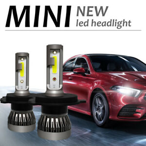 H4 MINI COB 72W 9000LM LED Phare De Voiture Ampoule Headlight 6000K Xénon Blanc