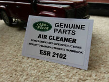Land Rover Genuine OEM Boxes Air Filters