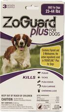 ZoGuard Plus for Dogs 23-44 lbs. 3 Month Supply (3 Applicators) NIP Sealed