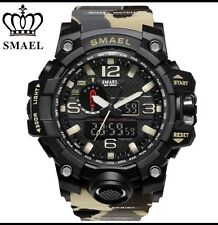 UK Mens Camouflage Tactical Dual Display shock Digital Sports Divers Watch.