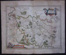 1640 PAIS DE BRIE Willem Blaeu Melun Paris Brie-Comte-Robert Coulommiers Provins