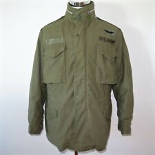 VINTAGE US ARMY AIR CORPS 1968 M-65 M65 FIELD JACKET MEDIUM HELICOPTER PATCHE