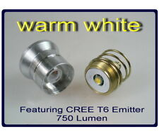 CREE XM-L T6 warm white emitter 3.7v 1-mode module for 26.mm flashlight  #165