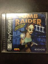 Tomb Raider 3 (PS1) Complete Black label!!