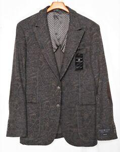 NWT-New_$595 Paisley JOSEPH ABBOUD BLACK LABEL Blazer/Dinner Jacket_40R_Slim Fit