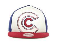 Chicago Cubs New Era 9Fifty Little Big Pop Snapback Flat bill Hat Adjustable Cap