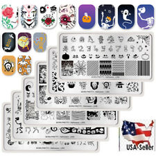 6Pcs BORN PRETTY Nail Art Stamping Plates Halloween Theme  Templates Kit