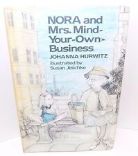 Nora and Mrs Mind-Your-Own-Business, by Johanna Hurwitz (1977) Hardcover