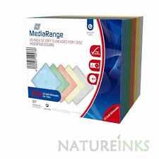 60 MediaRange CD DVD Soft 5mm Slimline plastic jewel case Assorted colour BOX37
